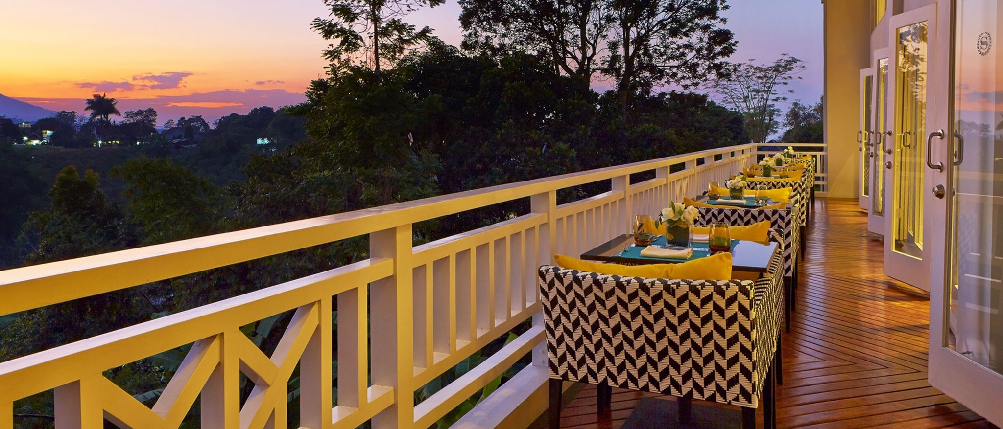 Romantic Towers Lounge Balcony